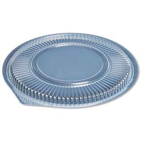 Microwave Safe Container Lid, Round, Plastic, Fits 48 oz., Clear, 75/Bag, 300 ct