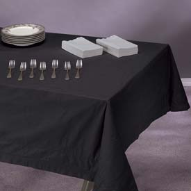 "Tissue/Poly Tablecovers, 54"" X 108"", Black, 25 ct"
