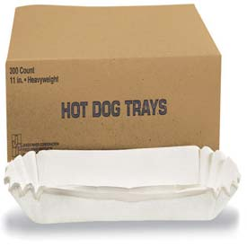 "Hoffmaster HFM 610740 Fluted Hot Dog Trays, Heavy Weight Paper, 6""W X 2""D X... by"