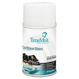 Metered Fragrance Dispenser Refill Caribbean Waters, 5.3 Oz. Aerosol 12/Case - WTB335324TMCACT