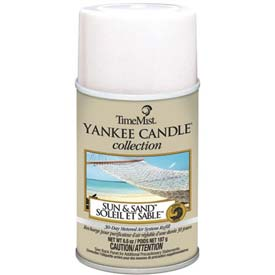 Yankee Candle Air Freshener Refill Sun And Sand, 6.6 Oz. Aerosol Can 12/Case - WTB812400TMCACT