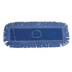 "18"" x 5"" Looped-End Cotton/Synthetic Fiber Dust Mop Head, Blue BWK1118 by"