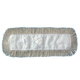"24"" x 5"" Industrial Cut-End Hygrade Cotton Dust Mop Head, White UNS1324 by"