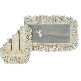 "36"" x 5"" Disposable Cotton/Synthetic Dust Mop Head W/ Sewn Center Fringe, White... by"