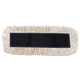 "48"" x 5"" Cotton/Synthetic Fibers Dust Mop Head, White BWK1648 by"