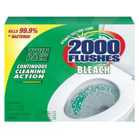 2000 Flushes® Bleach Antibacterial Automatic Bowl Cleaner, 12/Case - WDF290088