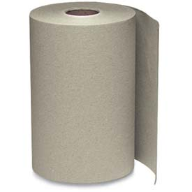 """Windsoft® Nonperforated Roll Towels, Brown 8"""" x 800' Rolls 6/Case - WNS12806"""