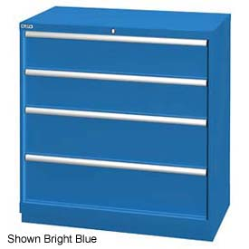 """Lista 40-1/4""""W Drawer Cabinet, 4 Drawer, 24 Compart - Light Gray, Individual Lock"""