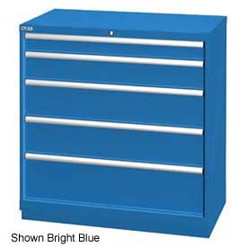 """Lista 40-1/4""""W Drawer Cabinet, 5 Drawer, 51 Compart - Classic Blue, No Lock"""