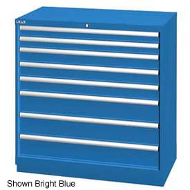 """Lista 40-1/4""""W Drawer Cabinet, 8 Drawer, 117 Compart - Classic Blue, Keyed Alike"""