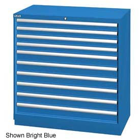 """Lista 40-1/4""""W Drawer Cabinet, 10 Drawer, 162 Compart-Classic Blue,Individual Lock"""