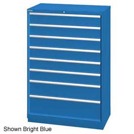 "Lista 40-1/4""W  Cabinet, 8 Drawer, 84 Compart - Bright Blue, Master Keyed"