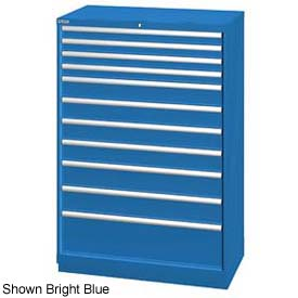 """Lista 40-1/4""""W  Cabinet, 11 Drawer, 162 Compart - Light Gray, Individual Lock"""