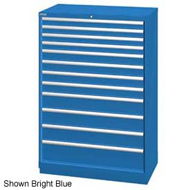 "Lista 40-1/4""W  Cabinet, 12 Drawer, 174 Compart - Classic Blue, Master Keyed"