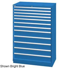"Lista 40-1/4""W  Cabinet, 12 Drawer, 177 Compart - Classic Blue, Master Keyed"