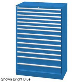 """Lista 40-1/4""""W  Cabinet, 14 Drawer, 222 Compart - Light Gray, Individual Lock"""