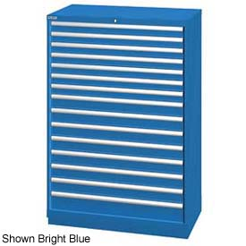 """Lista 40-1/4""""W  Cabinet, 15 Drawer, 243 Compart - Classic Blue, Individual Lock"""