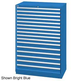 "Lista 40-1/4""W  Cabinet, 16 Drawer, 270 Compart - Bright Blue, Keyed Alike"