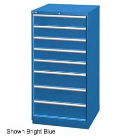 """Lista 28-1/4""""W Cabinet, 8 Drawer, 95 Compart - Light Gray, Individual Lock"""