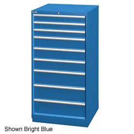 """Lista 28-1/4""""W Cabinet, 9 Drawer, 111 Compart - Classic Blue, Master Keyed"""