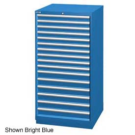 "Lista 28-1/4""W Cabinet, 16 Drawer, 296 Compart - Classic Blue, Master Keyed"