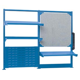 Nexus Accessory Kit - 3 Shelves, Markerboard, Louvered Panel, Power Strip - Blue