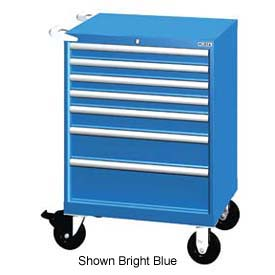 """Lista 28-1/4""""W Mobile Cabinet, 7 Drawers, 72 Compart - Classic Blue, Master Keyed"""