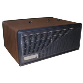 Portable Media Air Purifier - 110 CFM 120V - Wood with Black Trim
