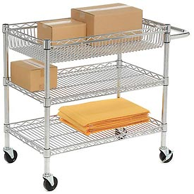 Luxor® LICWT2918 Heavy Duty Wire Transport Cart - 30x18x30