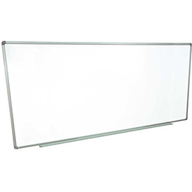 Magnetic Dry Erase White Board - 96 x 40 - Steel Surface - Aluminum Frame