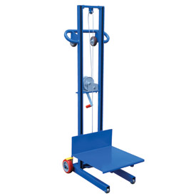 Vestil Steel Construction Lite Load Lift LLW-202058-FW - Winch Operation