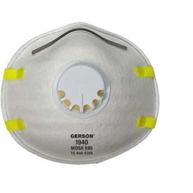 Gerson® R95 Cup-Style Molded Particulate Respirator with Exhalation Valve 1940, 100/Case