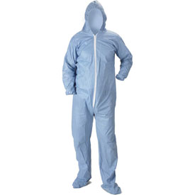 Lakeland 07414 Pyrolon® Plus 2 Disposable FR Coverall XL, Hood, Elastic Wrists/Boots, 25/Case