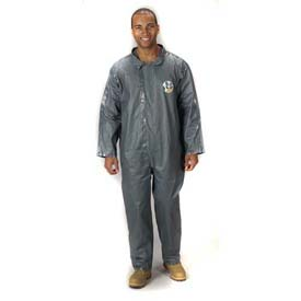 Pyrolon Coverall, Collar, Open Wrists and Ankles, 2XL, 6/Case, Lakeland, 51100-2X