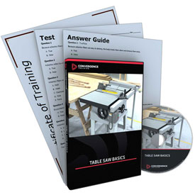 Click here to buy Convergence Training Table Saw Basics DVD, C-349B.