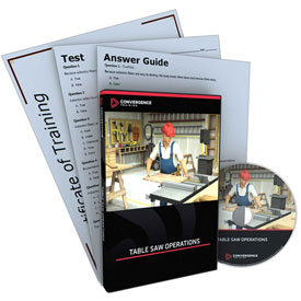 Click here to buy Convergence Training Table Saw Operations DVD, C-360B.