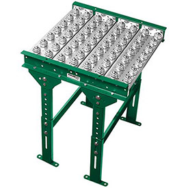 "Ashland Conveyor 4' Ball Transfer Conveyor Table BTIT220403 22"" BF 3"" Ball Centers by"