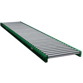"Ashland 10' Straight Roller Conveyor 10F10KG06B22 - 22"" BF - 1.9"" Roller Diameter - 6"" Axle Centers"