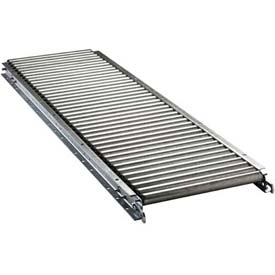 "Ashland 5' Straight Roller Conveyor, 16"" BF, 1-3/8"" Roller Diameter, 3"" Axle Centers"