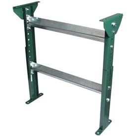 """H-Stand Support for Ashland 24"""" OAW Skatewheel & 22"""" BF Roller Conveyor - 19-1/2"""" to 31""""H"""