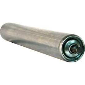 "Ashland 1.9"" Dia. Galvanized Steel Replacement Roller - 36"" BF - 7/16"" Hex Spring Retained Shaft"