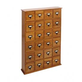 Library Style CD File Drawer Cabinet Oak, 288 CDs