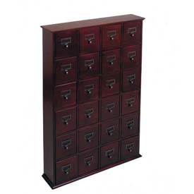Library Style CD File Drawer Cabinet Walnut, 288 CDs