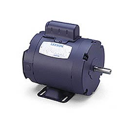 Leeson Motors-1/6HP, 115/208-230V, 3450RPM, TENV, Rigid Mount, 1.0 SF, 60 Eff.