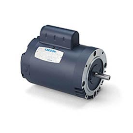 Leeson Motors-1/2HP, 115/208-230V, 3450RPM, DP, Round Mt, 1.25 SF, 66 Eff.