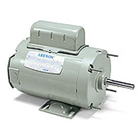 Leeson Motors - 1/3HP, 115/208-230V, 1140RPM, TENV, Rigid Mount, 1.0 S.F.