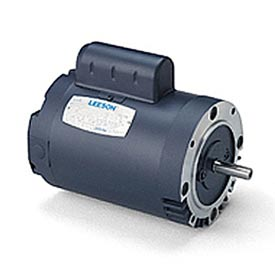 Leeson Motors - 1/2HP, 115V, 1625/1350RPM, DP, Round Mount, 1.0 S.F.