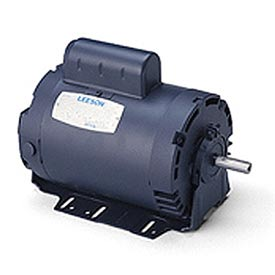 Leeson Motors - 1/2HP, 115V, 1625RPM, DP, Resil Mount, 1.0 S.F.