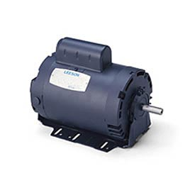 Leeson Motors-1/2HP, 115/208-230V, 1725RPM, DP, Resilient Base Mount, 1.25 SF, 62 Eff.