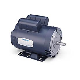 Leeson Motors-1/2HP, 115/208-230V, 1725RPM, DP, Rigid Mount, 1.25 SF, 62 Eff